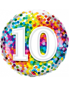 Folienballon zum 10. Geburstag