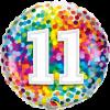 Folienballon zum 11. Geburtstag