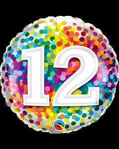 Folienballon zum 12. Geburtstag