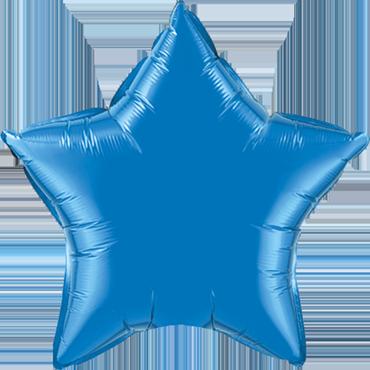 Folienballon, Stern in Blau