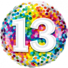 Folienballon zum 13. Geburtstag