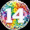 Folienballon zum 14. Geburtstag