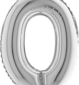 Zahl Null in Silber