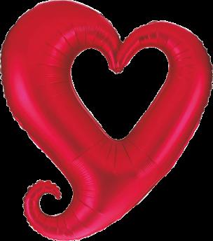 Folienballon, offenes Herz