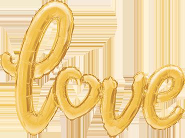 Folienballon, Schriftzug Love