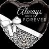 Folienballon, Hochzeit, Always und forever