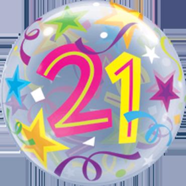 Bubble mit einer 21