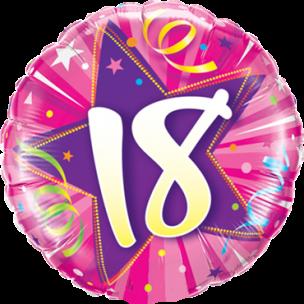 Folienballon zum 18. Geburtstag