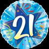 Folienballon zum 21. Geburtstag