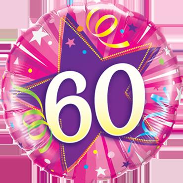 Folienballon zum 60. Geburtstag
