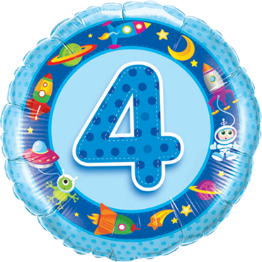 Folienballon zum 4. Geburtstag