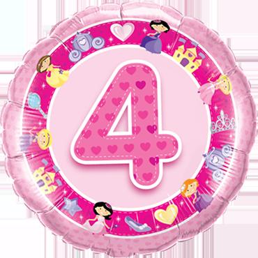 Folienballon, 4. Geburtstag