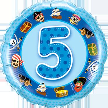 Folienballon zum 5. Geburtstag