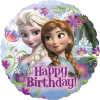 Folienballon, Ann und Elsa, Happy birthday