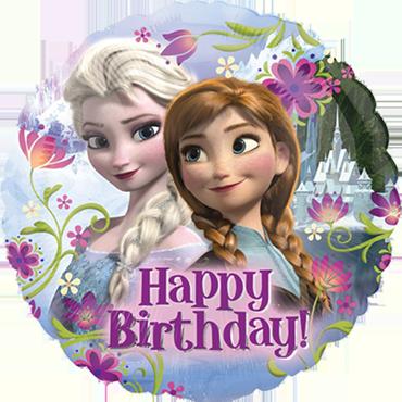 Folienballon, Ann und Elsa, Happy birthday