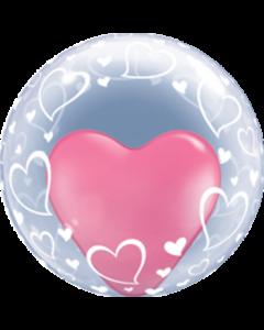 Deco-Bubble mit Herzen