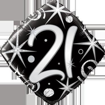 Folienballon 21. Geburtstag