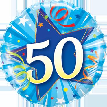 Folienballon zum 50. Geburtstag