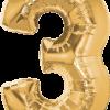 Folienballon Zahl 3 in Gold
