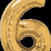 Folienballon Zahl 6 in Gold