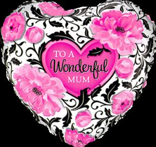 Folienballon, Herz, zum Muttertag