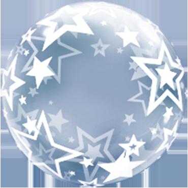 Deco Bubble mit Sternen Druck