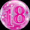 Bubble zum 18. Geburtstag