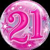Bubble zum 21. Geburtstgag Pink