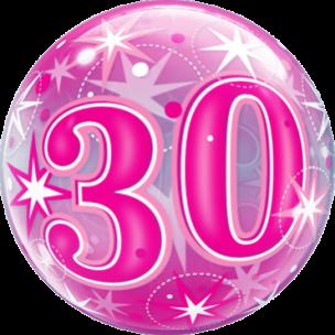 Bubble zm 30 .Geburtstag Pink