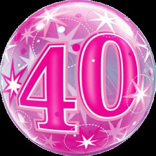 Bubble zum 40. Geburtstag in Pink