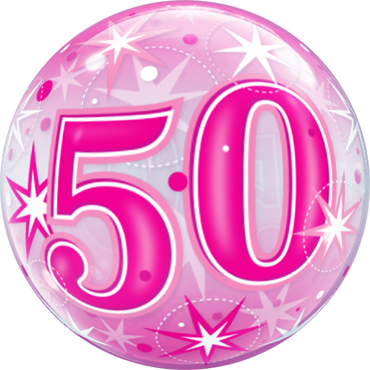 Bubble zum 50. Geburtstag in Pink