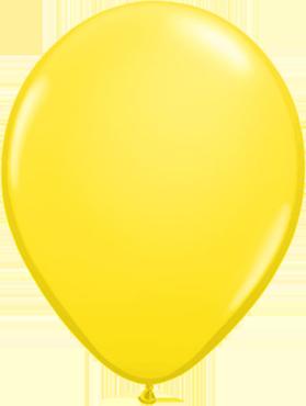 """Rundballon 11"""" Gelb"""