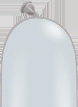 Modellierballon Grau 260Q