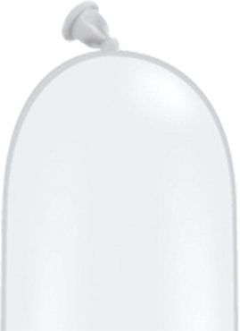 Modellierballon Weiß 260Q