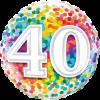 Bunter Folienballon mit einer 4040