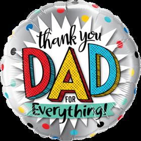 Folienballon Thank you Dad