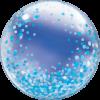 Deco-Bubble mit Blauen Konfetti Druck