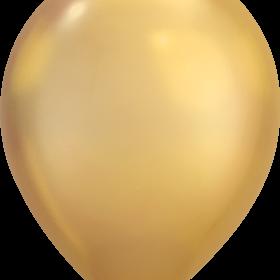 """Rundballon 11"""" Chrom Gold"""