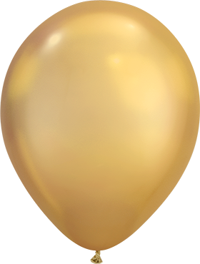"Rundballon 11"" Chrom Gold"