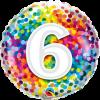 Folienballon zum 6. Geburtstag