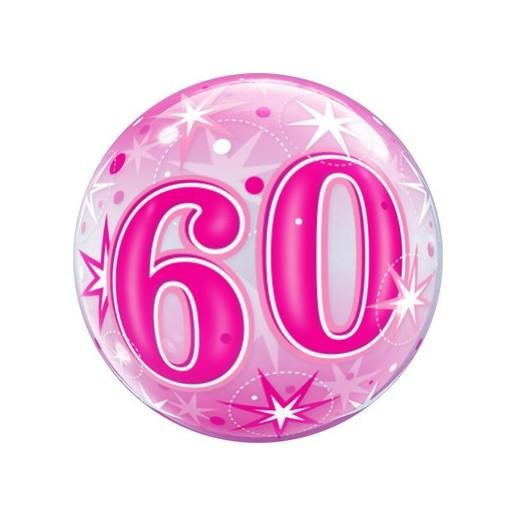 Bubble zum 60. Geburtstag in Pink