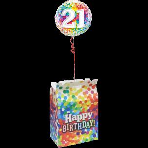 Ballon im Karton per Post