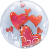 Double Bubble mit roten Herzen