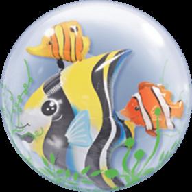 Double Bubbles mit bunten Fischen