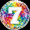 Folienballon zum 7. Geburtstag