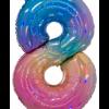 8 Megaloon Rainbow Holographische Folienzahlen 40in100cm