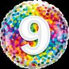 Folienballon zum 9. Geburtstag