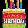 Birthday Cake und Candles Folienfiguren 35in87.5cm