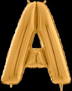 Buchstabe A in Gold
