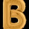 Buchstabe B in Gold